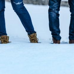 Preboda_ como zapatos en la Nieve
